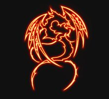 Dragon neon rouge 3 Unisex T-Shirt