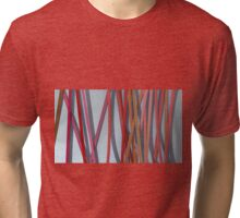 ribbon paper background red Tri-blend T-Shirt