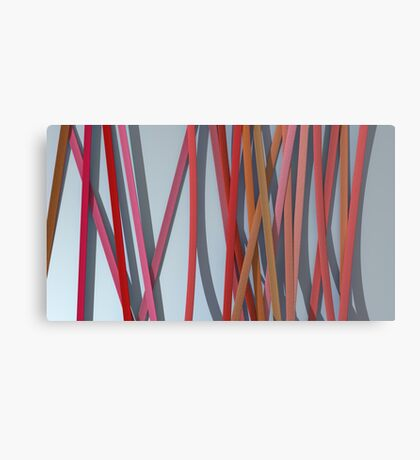 ribbon paper background red Canvas Print