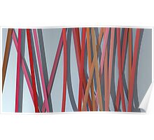 ribbon paper background red Poster
