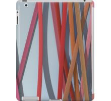 ribbon paper background red iPad Case/Skin