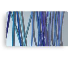 ribbon paper blue Canvas Print