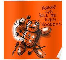 cartoon style voodoo baby Poster