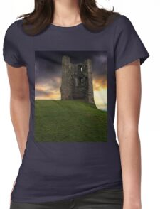 Sunset at Hadleigh Castle Womens Fitted T-Shirt