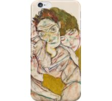 Egon Schiele - Seated Couple, 1915 1915 iPhone Case/Skin