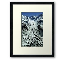 In the Hall of the Mountain King- Hochstetter Ice Fall Framed Print