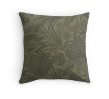 Tropical camo Throw Pillow
