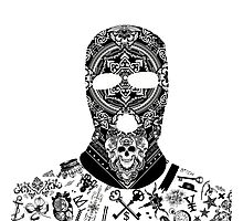 Gangster Balaclava Photographic Print