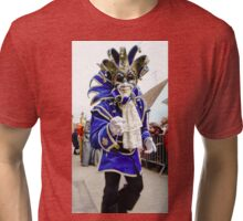 Editorial, 6 March 2016: Rosheim, France: Venetian Carnival Mask - A most beautiful masks photographed in open street Tri-blend T-Shirt