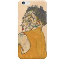 Egon Schiele - Self-Portrait in Yellow Vest, 1914   Expressionism  Portrait iPhone Case/Skin