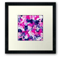 Modern pink purple watercolor brushstrokes Framed Print