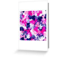 Modern pink purple watercolor brushstrokes Greeting Card