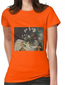 Paul Cezanne - Still Life with Flowers and Fruit 1888 - 1890 Womens Fitted T-Shirt