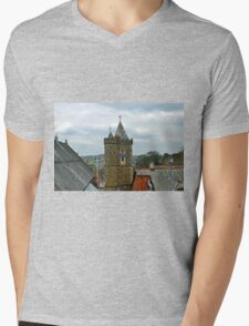 Clock Tower at Launceston Cornwall UK Mens V-Neck T-Shirt