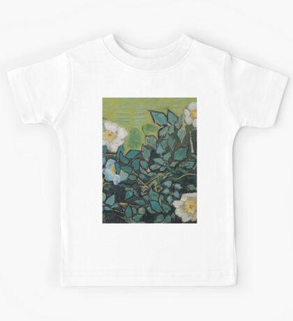 1890-Vincent van Gogh-Wild roses-24,5x33 Kids Tee