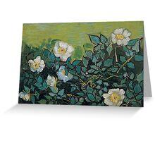 1890-Vincent van Gogh-Wild roses-24,5x33 Greeting Card