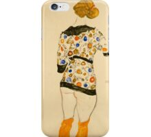 Egon Schiele - Standing Woman in a Patterned Blouse 1912 iPhone Case/Skin