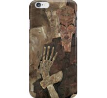 Egon Schiele - Self-Seer II Death and Man 1911  Expressionism  Portrait iPhone Case/Skin