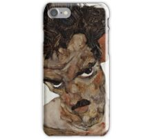 Egon Schiele - Self-Portrait with Lowered Head 1912  Expressionism  Portrait iPhone Case/Skin