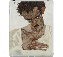 Egon Schiele - Self-Portrait with Lowered Head 1912  Expressionism  Portrait iPad Case/Skin