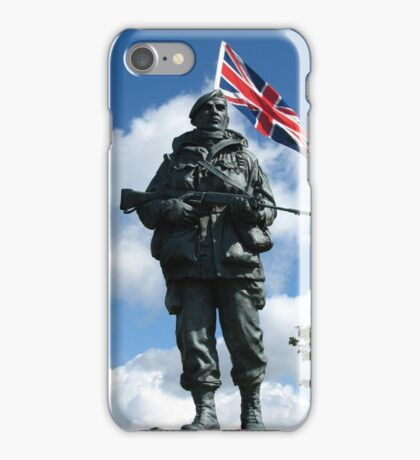 Royal Marines Statue, Portsmouth iPhone Case/Skin