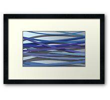 ribbon paper background blue Framed Print