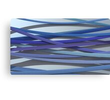ribbon paper background blue Canvas Print
