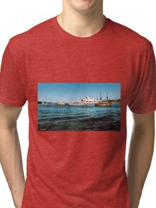 Sydney Harbour Panorama Tri-blend T-Shirt