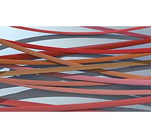 ribbon paper background red Photographic Print