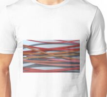 ribbon paper background red Unisex T-Shirt