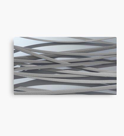 ribbon paper background white Canvas Print