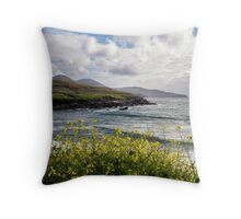 The Golden Skellig Ring Throw Pillow