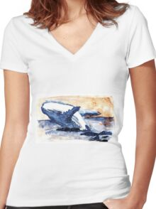 Gost of the sea Women's Fitted V-Neck T-Shirt