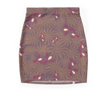 Painted exotic orchids flowers retro pattern Mini Skirt