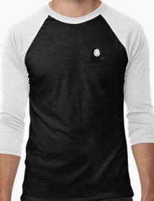No Face Pocket Men's Baseball ¾ T-Shirt