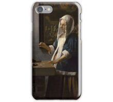 Johannes Vermeer - Woman Holding a Balance 1664 -  1664 iPhone Case/Skin