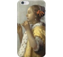 Johannes Vermeer - Young Woman with a Pearl Necklace around 1662 iPhone Case/Skin