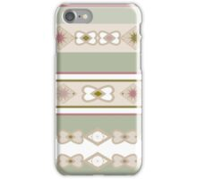 Seamless abstract pattern on beige background iPhone Case/Skin