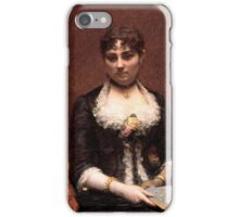 Henri Fantin-Latour - Portrait of Madame  1882 iPhone Case/Skin