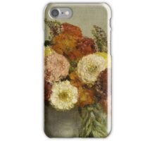 Henri Fantin-Latour - Flowers and Fruit 1865 , Still Life iPhone Case/Skin