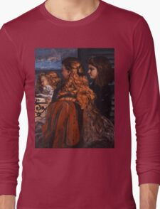 Gustave Courbet - Three Young Englishwomen by a Window 1865 , Girl with Red Hair Long Sleeve T-Shirt