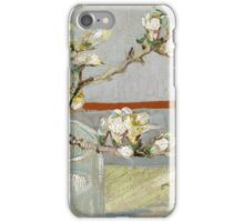 Vincent Van Gogh - Sprig of flowering almond in a glass, March 1888 - 1888 , Still Life,  Impressionism iPhone Case/Skin