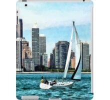 Chicago IL - Sailboat Against Chicago Skyline iPad Case/Skin