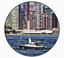 Chicago IL - Sailing on Lake Michigan One Piece - Long Sleeve