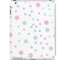 candy dots marshmallow pastels  iPad Case/Skin