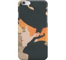 Henri de Toulouse-Lautrec  - Divan Japonais (1892 - 1893)Woman Portrait Fashion iPhone Case/Skin