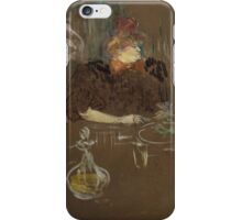 Henri de Toulouse-Lautrec  - At the Table of Monsieur and Madame Natanson (1898) iPhone Case/Skin