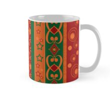 Abstract elements seamless pattern texture retro colors vertical lines background Mug