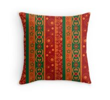 Abstract elements seamless pattern texture retro colors vertical lines background Throw Pillow