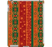 Abstract elements seamless pattern texture retro colors vertical lines background iPad Case/Skin